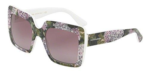Dolce & Gabbana Women's 0DG4310 Print Hydrangea On White/Violet Gradient One - Gabbana White Sunglasses Dolce