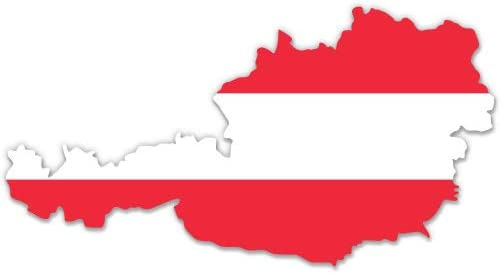 CHOICE OF SIZES DECAL PRINTED STICKER AUSTRIA SHIELD WORLD FLAG