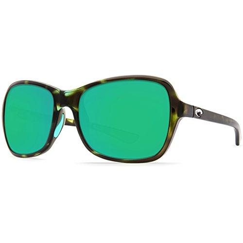(Costa Del Mar KAR116OGMP Kare Sunglass, Shiny Kiwi Tortoise Frame Green Mirror)