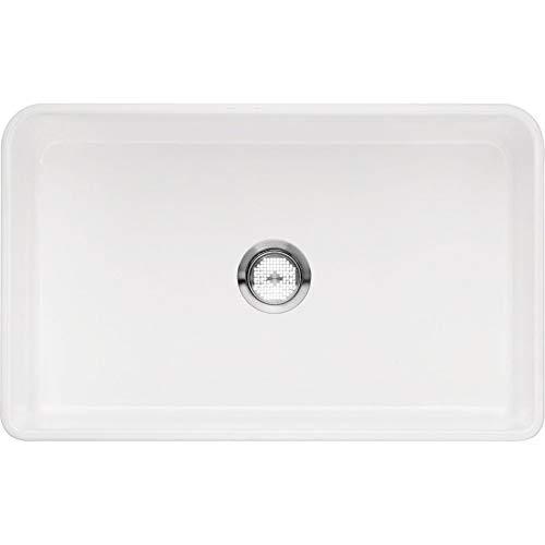 (Blanco 524257 Cerana Ii Fireclay 0-Hole Undermount Single Bowl Kitchen Sink, 30