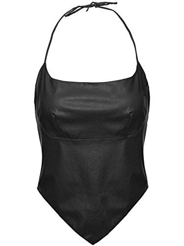 Envy Boutique - Camiseta sin mangas - cuello halter - para mujer negro