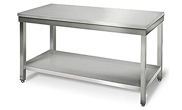 Arbeitstisch 0,6 x 0,7 m Edelstahltisch Gastro Edelstahl Tisch Edelstahlschrank