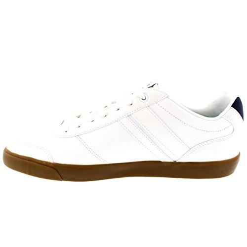 Heren Lacoste Comba Casual Geregen Leer Vakantie Mode Sport Sneakers Wit / Bruin