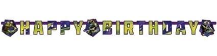 Tarjeta, cartel con letras para fiesta de las Tortugas Ninja ...