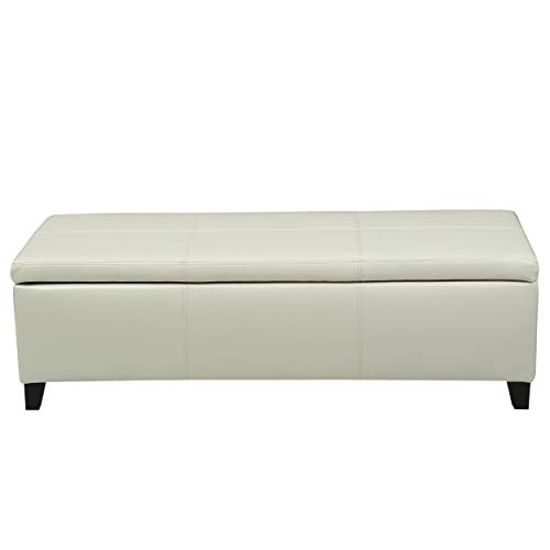 Fine Christopher Knight Home 296846 Living Skyler Off White Leather Storage Ottoman Bench Ivory Onthecornerstone Fun Painted Chair Ideas Images Onthecornerstoneorg