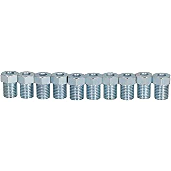 """AB Tools-Bond Steel Male Brake Pipe Union Fittings 3//8 x 24 UNF TTE for 3//16/"""" Brake Pipe 10pc"""
