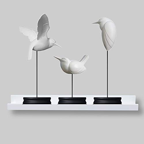 AHDECOR Picture Ledge Shelf White Wall Mounted Floating Shelves Display Storage Ledge for Home Kitchen Office Decoration, 24 inch, 1-Pack