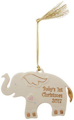 Lenox 2017 Baby's 1st Christmas Ornament, Elephant