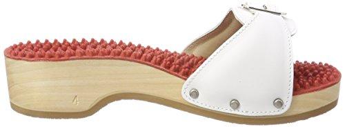 Berkemann Damen Noppen-Sandale Absatz Pantoletten Weiß (Weiß)