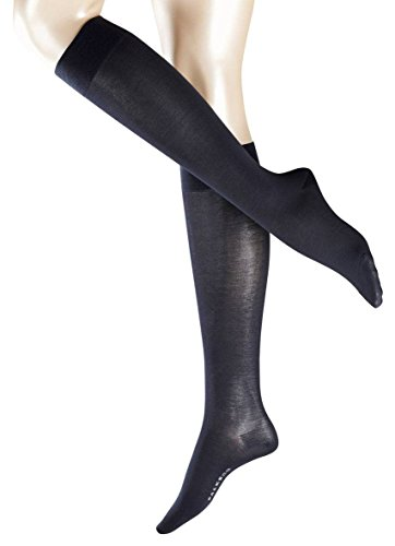 Falke Womens Cotton Touch Knee High Socks - Dark Navy - Medium/Large -