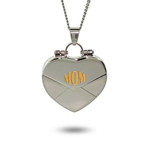 Mom Secret Message Heart Locket