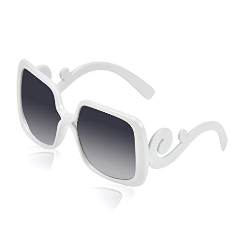 - Square Sunglasses for Women Womans Fashion Sunglasses Chic Mens Plastic White
