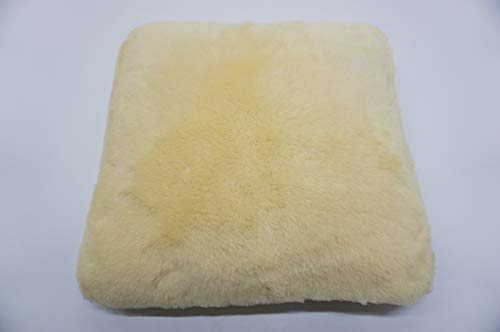 (Genuine Medical Sheepskin Seat Cushion for Office Chair/Wheelchair - Eco Product of European Union - Premium Quality)