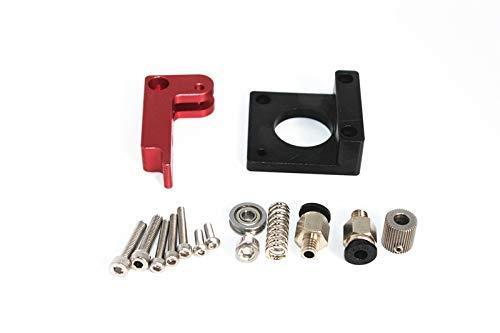 Tonglingusl 3d printer part mk8 extruder aluminum alloy block extuder filament 1.75mm for 3d printer board (color : free, size : right 5 pieces)