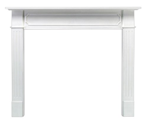 Pearl Mantels 520-48 Berkley 48-Inch Paint Grade Fireplace Mantel, White Decorative Fireplace Mantels