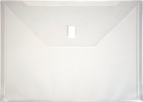 Velcro Envelope Closure (Lion Design-R-Line Poly Envelope with Ex tra Pocket, 9-3/4 x 12-1/2 Inches, Clear, 1 Envelope (22070-CR))