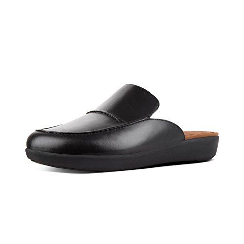 FitFlop New Women's Serene Slip On Mule Black Leather 8