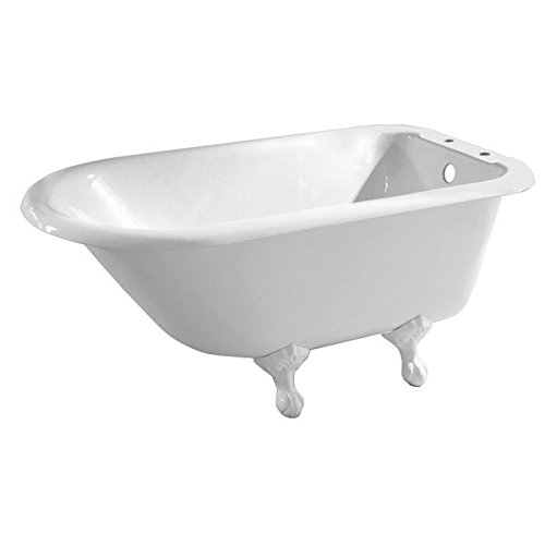 Randolph Morris 54 Inch Cast Iron Classic Clawfoot Tub Rim Drillings - Ball and Claw (Ball Clawfoot Leg Tub)