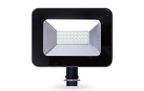 LLT 20W LED Flood Light with Knuckle, 5000k, 1600lm, Super Slim Outdoor LED Floodlight, IP65, Suitable for Wet Locations, 110V-130V, Black