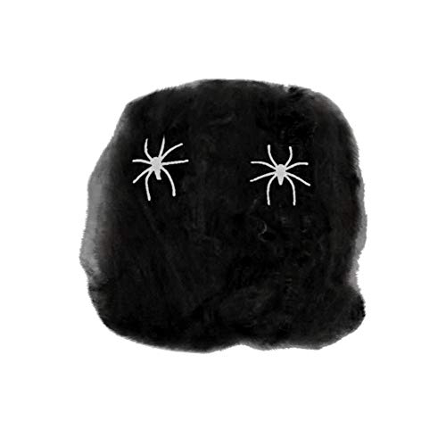 Hot Sale!DEESEE(TM)Halloween Spider Web Scary Party Scene Props Stretchy Cobweb Home Bar Decoration (Black) -