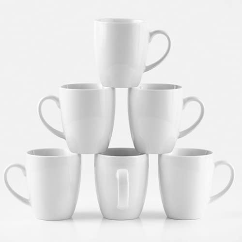 "Amuse- Professional Barista""Cozy Collection"" Mug for Coffee, Tea or Chocolate- Set of 6 (Medium - 12 oz.)"