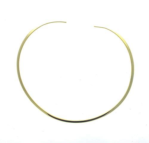Shiny Gold Round 4mm Choker Collar Necklace Wire Women's Jewelry (CS13)