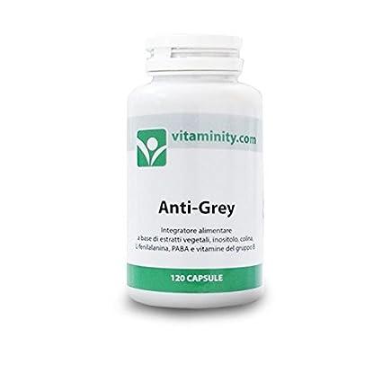 Vitaminity - Anti-Grey - Integratore alimentare per la conservazione del  colore dei capelli  Amazon.it  Salute e cura della persona f9b2606063c2