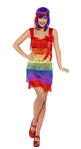 Ladies 1920's Rainbow Flapper Fancy Dress
