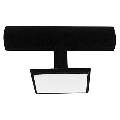 Black Velvet Hovering T-Bar Bracelet Necklace Jewelry Display Stand for Home Organization
