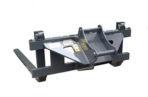 Palettengabel FEM 2 passend für Bagger Lehnhoff MS03 MS08 und Schaeff/Terex HR16 und HR32 Lieferbar in 2 Gabelzinkenlängen (MS03 mit Gabelzinken 1100mm)