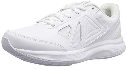 Reebok Women's Walk Ultra 6 DMX Max Shoe, White/Steel, 8.5 M US
