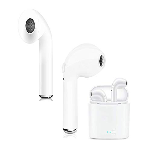 2019 Wireless Earbuds, Bluetooth Headphones with Microphone Sweatproof Mini in-Ear Sports Earphones Noise Cancelling Headsets with Charging Case