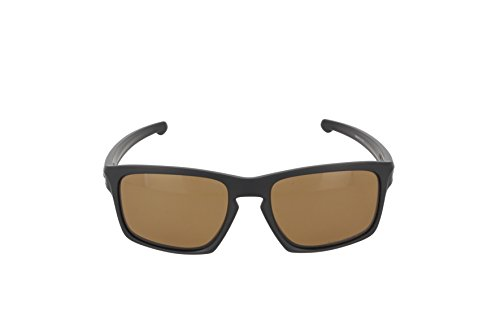 Oakley Men's Sliver OO9262-08 Polarized Rectangular Sunglasses, Matte Black, 57 mm by Oakley (Image #2)