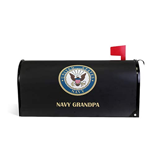 US American Navy Grandpa Gift Magnetic Mailbox Cover Wraps Letter Post Box 25.5