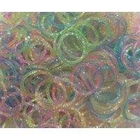 Glitter Style Rainbow Loom Bracelet Rubber Bands and Clips