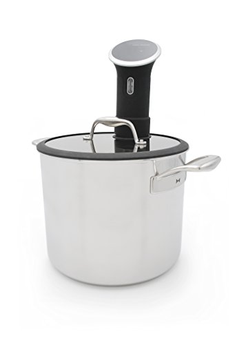 Tuxton Home THBCZ3-SS9-G Chef Series Sous Vide Pot, 9.5-Quart, Silver