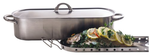 Fagor 3-Piece Stainless-Steel Fish Poacher Set