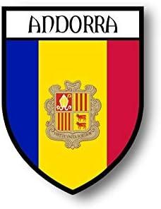 Autocollant sticker drapeau  AND Andorre andorra