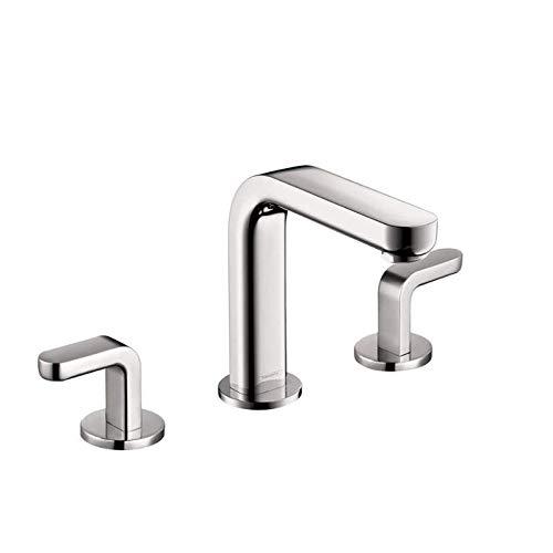 hansgrohe Metris S  Modern 2-Handle  6-inch Tall Bathroom Sink Faucet in Chrome, 31067001