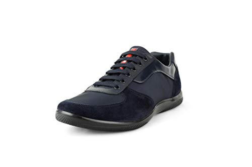 Prada Suede Sneakers - Prada Men's Offshore Suede with Nylon Sneaker, Navy 4E2961 (9 US / 8 UK)