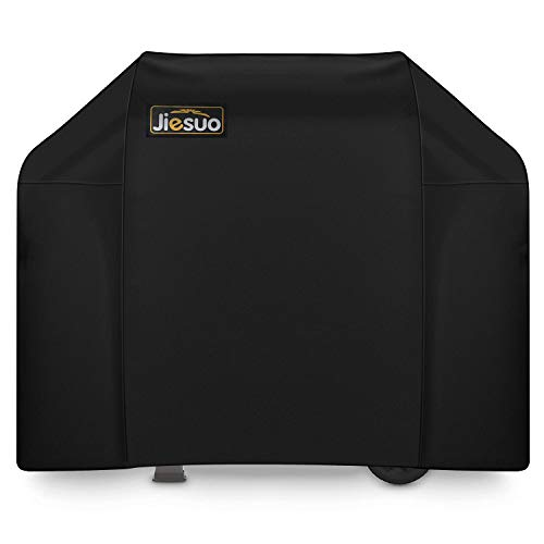 JIESUO BBQ Gas Grill Cover for Weber Spirit II 310: Heavy Duty Waterproof 51 Inch 3 Burner Weather Resistant Ripstop Outdoor Barbeque Grill Covers (Spirit E310 Grill Cover)
