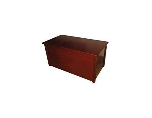 Dark Cherry Toy Box Optional Cedar Base: (Cherry Blanket Chest)