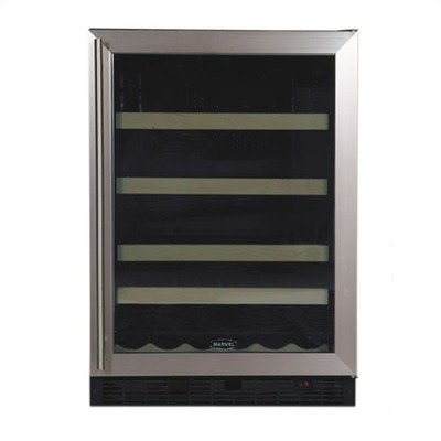 Chateau 14 Wine Bottle / 114 Beverage Can Refrigerator Door: Black, Hinge: Left - Auto Defrost Left Hinge