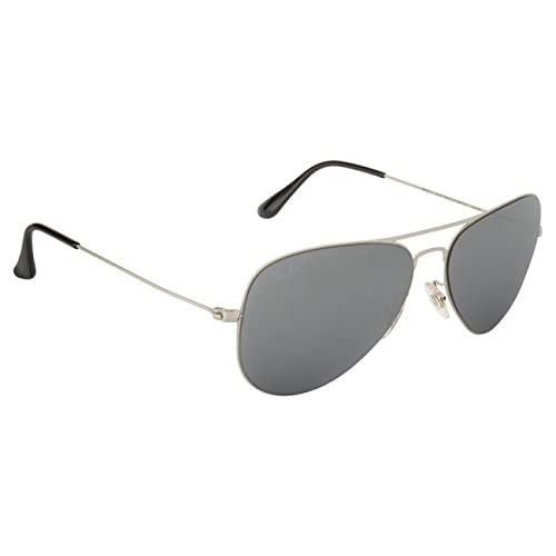 ad9eb3353957e Ray Ban Flat Metal Aviator RB3513 154 6G 58mm Aviator Silver Mirrored have  VERY small