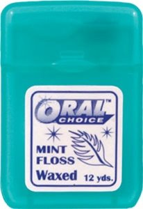Waxed Flat Mint Ribbon Dental Floss, 144 pcs by Oral Choice