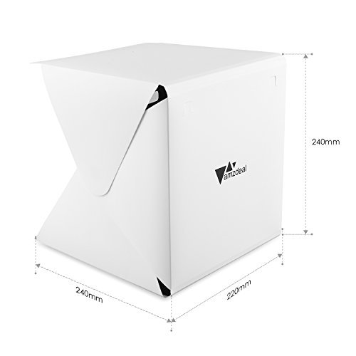 amzdeal light tent studio foldable light box photography. Black Bedroom Furniture Sets. Home Design Ideas