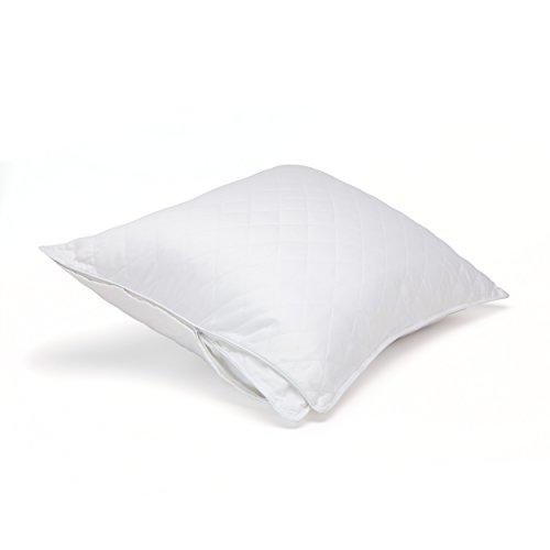Cotton Sateen Pillow Protector - 300 TC Cotton Sateen Quilted Pillow Protector Pillow (Standard) - Sold Individually