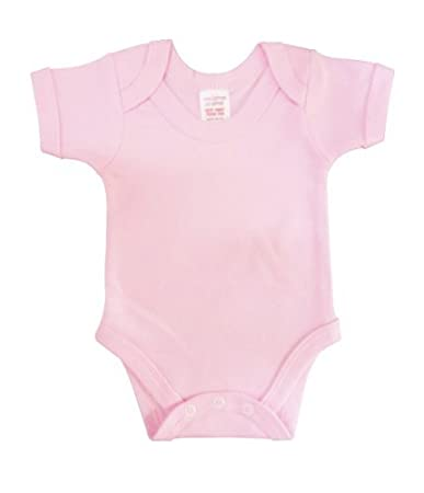 Body chaleco manga corta collar de deslizamiento BabywearUK rosa rosa Talla:0-3 months