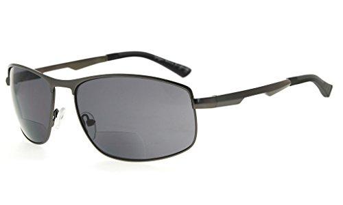 Eyekepper Bifocal Sunglasses Bifocal Sun Readers Outdoor Reading Glasses (Gunmetal, - Bifocal No Line Sun Reading Glasses