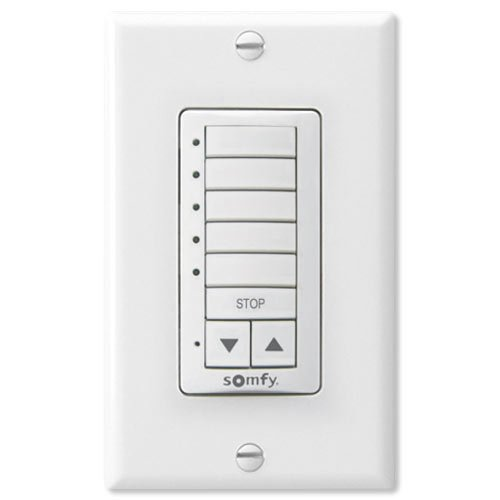 Somfy Decoflex Wirefree RTS Wall Switch, 5 Channel, White (1810813)
